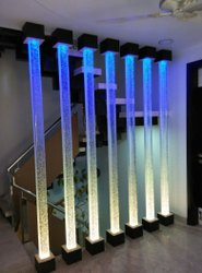 Designer Glass pillar Partition, For Office