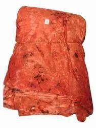 Orange Casual Wear Rayon Tie Dye Fabric, 120 Gsm