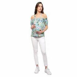 Off Shoulder Georgette Maternity Top