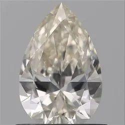 Pear 0.61ct J VVS2 GIA Certified Natural Diamond
