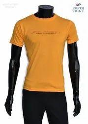 Round Half Sleeve Cotton Plain T Shirt