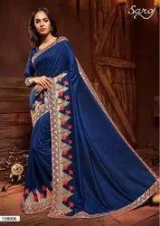 Embroidery Border Silk Saree