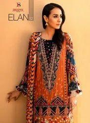 Deepsy Suits Elan Vol 12 Silk Digital Print With Embroidery Work Pakistani Suit Catalog