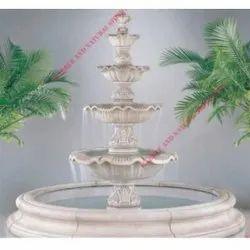 White Marble Antique Outdoor Fountain, For Garden, 20 MM