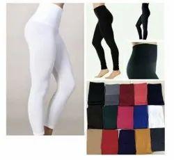 Plain Black Women Lycra Tommy Fit Legging