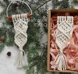 Assorted Macrame Christmas Ornaments