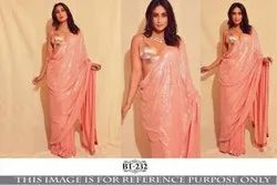 Pink Party Wear Bollywood Designer Sequence Saree