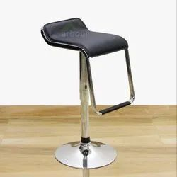 Black PU Leather Bar Stool