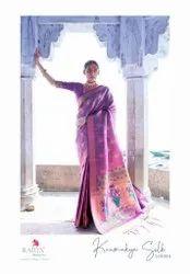 Rajtex Fabrics Self Design Soft Weaving Silk With Designer Pallu Saree