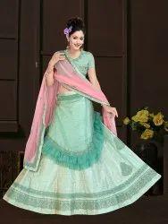 Surypur Export Georgette And Net PP.0318 Green Designer Lehenga Choli