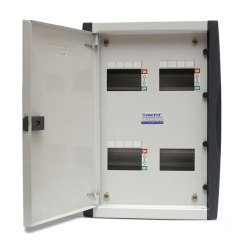 Mild Steel (MS) 4 Way Double Door MCB Box, For Electric Fittings