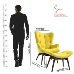 Sybaritic Modern King Chair Living Room Chair, For Cafe