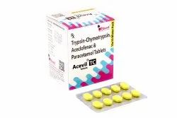 Trypsin-Chymotrypsin 50000 Armour Units   Aceclofenac 100 Mg   Paracetamol 325 Mg