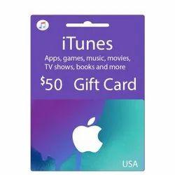 Itunes US Dollar Gift Card - 50 Dollar