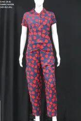 Regular Wear Printed Ladies Trendy rayon Night Suits