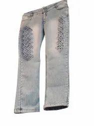 Party Wear Stretchable Kids Denim Jeans, Handwash