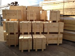 Rectangular Brown Soft Wood Pallet Box, For Packaging, Capacity: 100 Kg