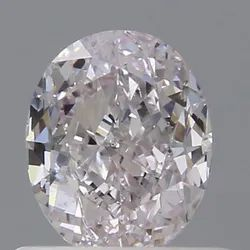 Oval 0.70 Faint Pink VS2 GIA Certified Natural Fancy Color Diamond