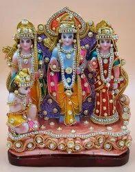 Polyresin Multicolor Ram Darbar Decoration Decorative Showpiece., Size/dimension: Medium