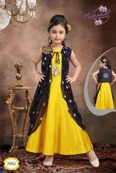 Kids Sleeveless Silk Jacket Gown