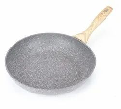 Silver OET European Standard Maifan Stone Coating Frying Pan(pn55a), For Home & Restaurant, Circle