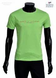 Round Half Sleeve Casual T Shirt, Size: Medium