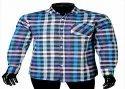 Collar Neck Mens Cotton Checkered Shirts, Handwash
