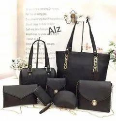 Ladies Black Handbag Set