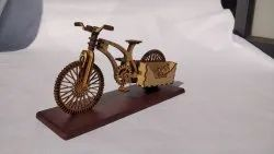 Antique Decorative Wooden Handicraft Cycle, For Decoration, Size: 6
