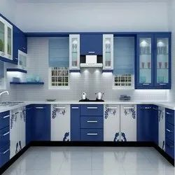 U Shape PVC Modular Kitchen