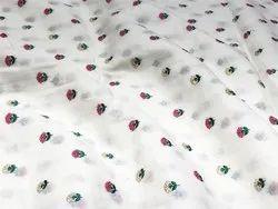 Pure Embroidered Cotton Fabric- Butti