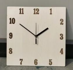 Analog Fancy Wooden Clock, For Home, Size: 8x8