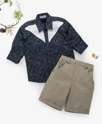 Cotton Blue Kids Full Sleeve Shirt, Size: 1-2y To 5-6y