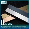 U-Profile (12x12x12mm) Gold, Rose Gold, Black, Silver, Champagne Antique Hairline & Antique Copper