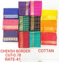 Cheksh Border Cotton Blouse Piece