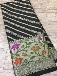 6 m (with blouse piece) Festive Wear Paithini Work Semi Georgette Saree