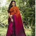 Silk Crepe Hand print Saree