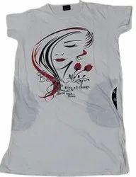 Girls Printed Long Top