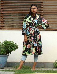 Indian printed kimono 100% cotton