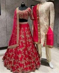 Present Benglory Satin With Embroidery Work Bridal Lahenga Choli
