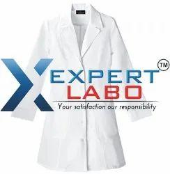 ExpertLabo Unisex White Formal Doctor White Coat, For Hospital
