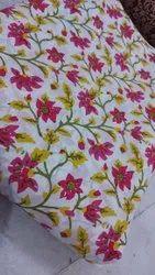 Casual Wear Cotton Sanganeri Printed Dress Fabric, GSM: 200 - 250 GSM