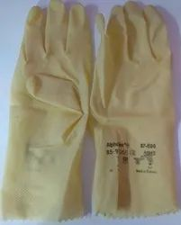 Nitrile Rubber Yellow Ansell 87 600, For Industrial Use, Size: Medium