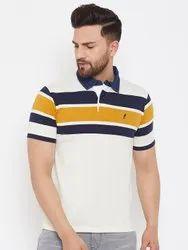 White Cotton Polo T Shirts, Size: S To 2XL