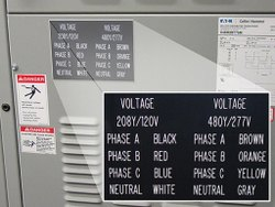 Electrical Panel Label