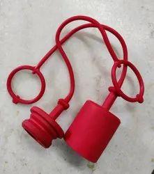 Red Plastic QRC Dust Cap & Dust Plug, For Industrial, Set