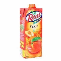 Red Sugar Real Fruit Power Peach Juice, Packaging Size: 1 Liter, Packaging Type: Tetra Pack