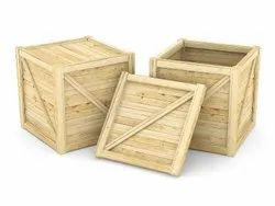 Cube Hard Wood Shipping Wooden Packaging Box, Size: 350x350x350 Mm (hxlxw)