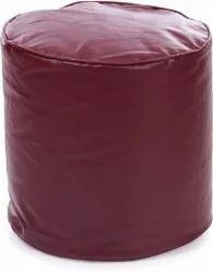 Free Size Maroon Footstool Bean Bag Cover