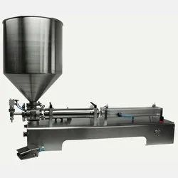 Semi - Automatic Ginger Garlic paste filling machine Single head
